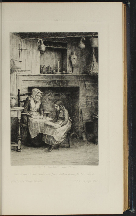 Illustration on Page 296a of Volume 1 of the 1888 J.B. Lippincott Co. Reprint Depicting Ellen Reading to Grandma