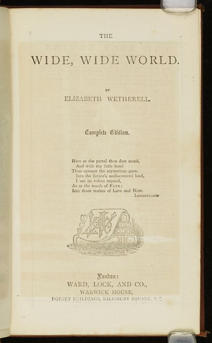 "Title Page to the [1877] Ward, Lock & Co. ""Good Tone Library, Complete Edition"" Reprint"