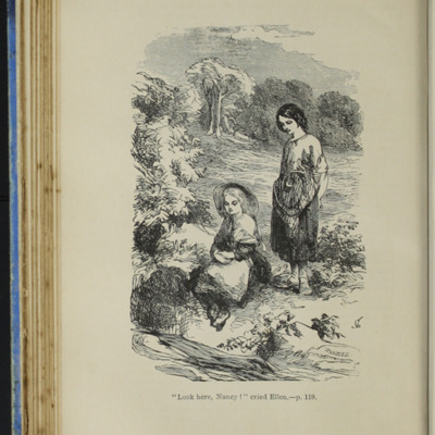 Illustration on Page 118b of the [1890] Frederick Warne & Co. Reprint, Depicting Ellen and Nancy at the Brook