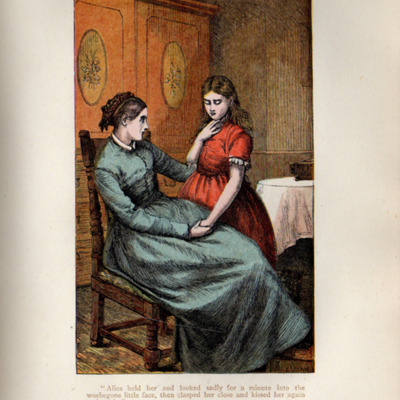 Illustration on Page 436a of the [1899] George Routledge & Sons, Ltd. Reprint, Depicting Alice Telling Ellen of Her Illness
