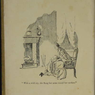 Frontispiece to the [1902] H.M. Caldwell Co. Reprint, Depicting Ellen Embracing Mamma in the Parlour