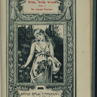 Title Page Vignette to Volume One of the [1902] Home Book Co. Reprint, Depicting a Woman Gathering Flowers