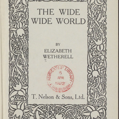 Decorative Title Page of the [1922] T. Nelson & Sons, Ltd., Reprint