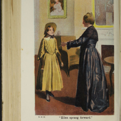 Illustration on Page 466b of the [1907] Collins' Clear-Type Press Reprint, Depicting Ellen Greeting Grandmother Lindsay