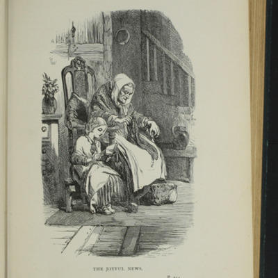 Illustration on Page 254a of the [1893] James Nisbet & Co. Reprint, Depicting Ellen Reading to Grandma