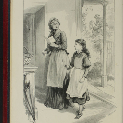 "Frontispiece to the [1902] Ward Locke & Co. Ltd. ""Complete Edition"" Reprint, Depicting Aunt Fortune Reading Ellen's Letter from Mamma"