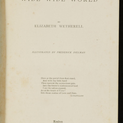 Title Page to the 1896 Hodder and Stoughton Reprint