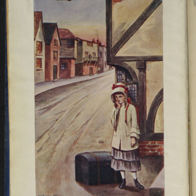 Full-Color Frontispiece to the [1928] Epworth Press Reprint, Depicting Ellen Arriving in Thirlwall