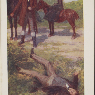 Full-Color Plate on Page 384 of the [1923] T. Nelson & Sons, Ltd., Reprint, Depicting the Horse Whipping Scene