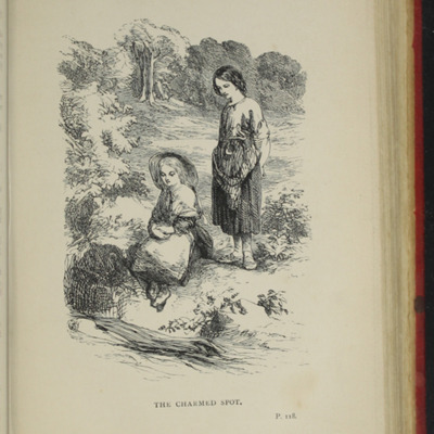 Illustration on Page 118a of the [1891] James Nisbet & Co. Reprint, Depicting Nancy Finding Ellen at the Brook