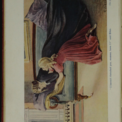 Full-Color Frontispiece to the [1906] Charles H. Kelly Reprint,  Depicting Ellen in the Parlour with Mamma