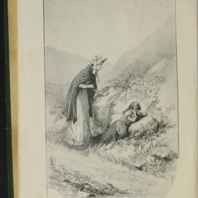 "Frontispiece to the [1903] Ward, Lock & Co, Ltd. ""Complete Edition"" Reprint, Depicting Alice Finding Ellen on the Cat's Back"