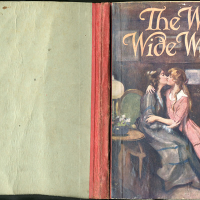Full Cover of the [1918] Thomas Nelson & Sons, Ltd. Abridged Reprint, Depicting a Kiss and Embrace Between Ellen and Alice