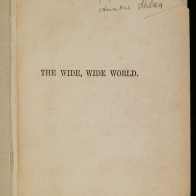 Half-Title Page to [1896] James Nisbet & Co. Reprint