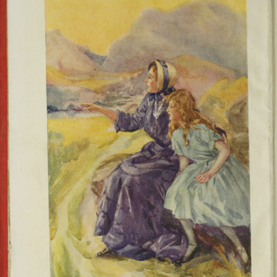 Frontispiece to the [1918] Humphrey Milford/Oxford University Press Reprint Depicting Alice and Ellen on The Cat's Back