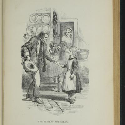 Illustration on Page 378a of the [1893] James Nisbet & Co. Reprint, Depicting Thomas Delivering John's Gift of <em>The Pilgrim's Progress</em> to Ellen