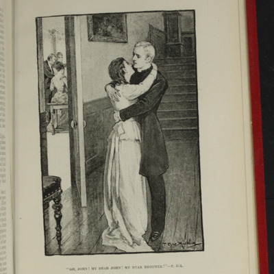 "Illustration on Page 464b of the [1896] Walter Scott, Ltd. ""Complete Edition"" Reprint, Depicting Ellen Reuniting with John in Scotland"