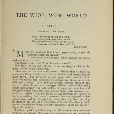 First Page of Text in the [1907] Collins' Clear-Type Press Reprint