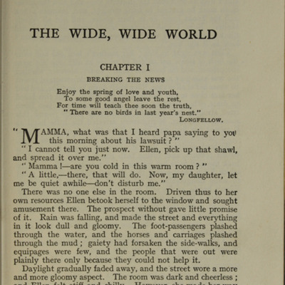 First Page of Text in the [1926] Ward, Lock & Co., Ltd. Reprint