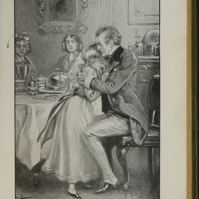Illustration on Page 406a of the [1910] S.W. Partridge & Co., Ltd. Reprint, Depicting Ellen Comforted by Uncle Lindsay