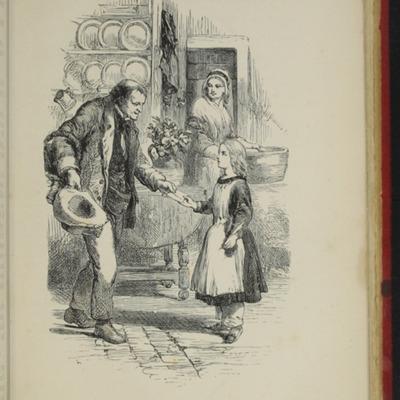 Illustration on Page 378A of the [1891] James Nisbet & Co. Reprint, Depicting Thomas Delivering John's Gift of <em>The Pilgrim's Progress</em> to Ellen