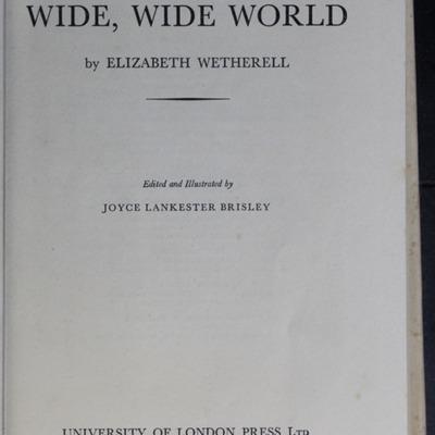 Title Page to the [1950] University of London Press, Ltd. Abridged Reprint