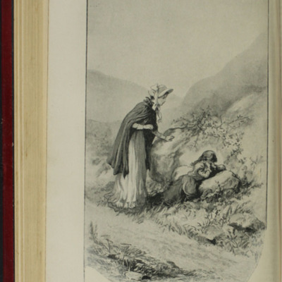 "Illustration on Page 128b of the [1902] Ward, Lock and Co. Ltd. ""Complete Edition"" Reprint, Depicting Alice Finding Ellen on the Cat's Back"