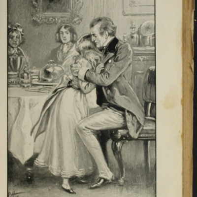 Illustration on Page 406a of the [1896] S.W. Partridge & Co. Reprint, Depicting Mr. Lindsay Comforting Ellen