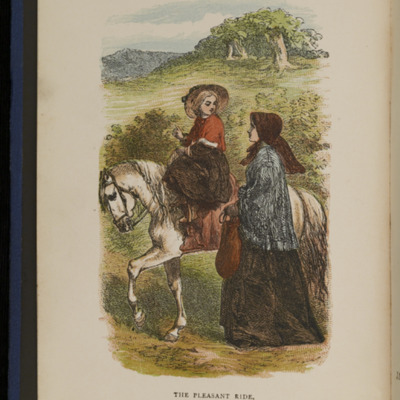 "Frontispiece to the 1886 James Nisbet & Co. ""New Edition, Golden Ladder Series"" Reprint, Depicting Ellen Riding Sharp"
