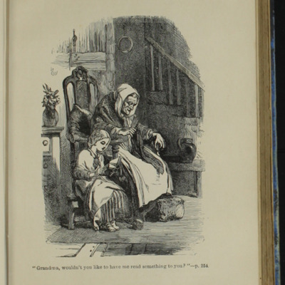 Illustration on Page 254A of the [1890] Frederick Warne & Co. Reprint, Depicting Ellen Reading to Grandma