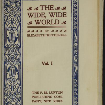 Title Page to Volume Two the [1898] F.M. Lupton Publishing Co. Reprint