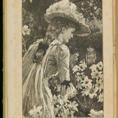 Frontispiece to the 1896 Hodder and Stoughton Reprint, Depicting Ellen Among the Lilies