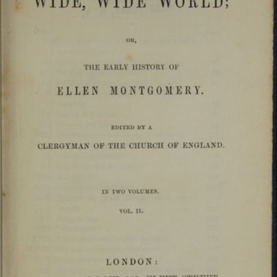 Title Page to Volume Two of the 1852 Sampson Low Reprint